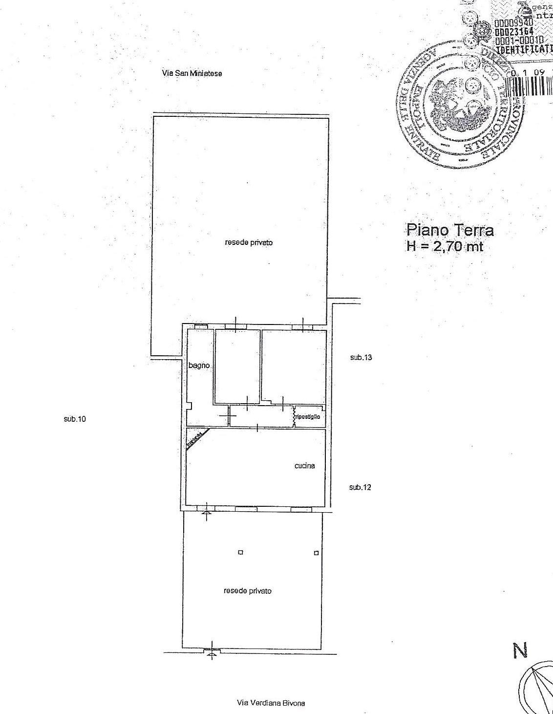 Planimetria 1/2 per rif. 1829