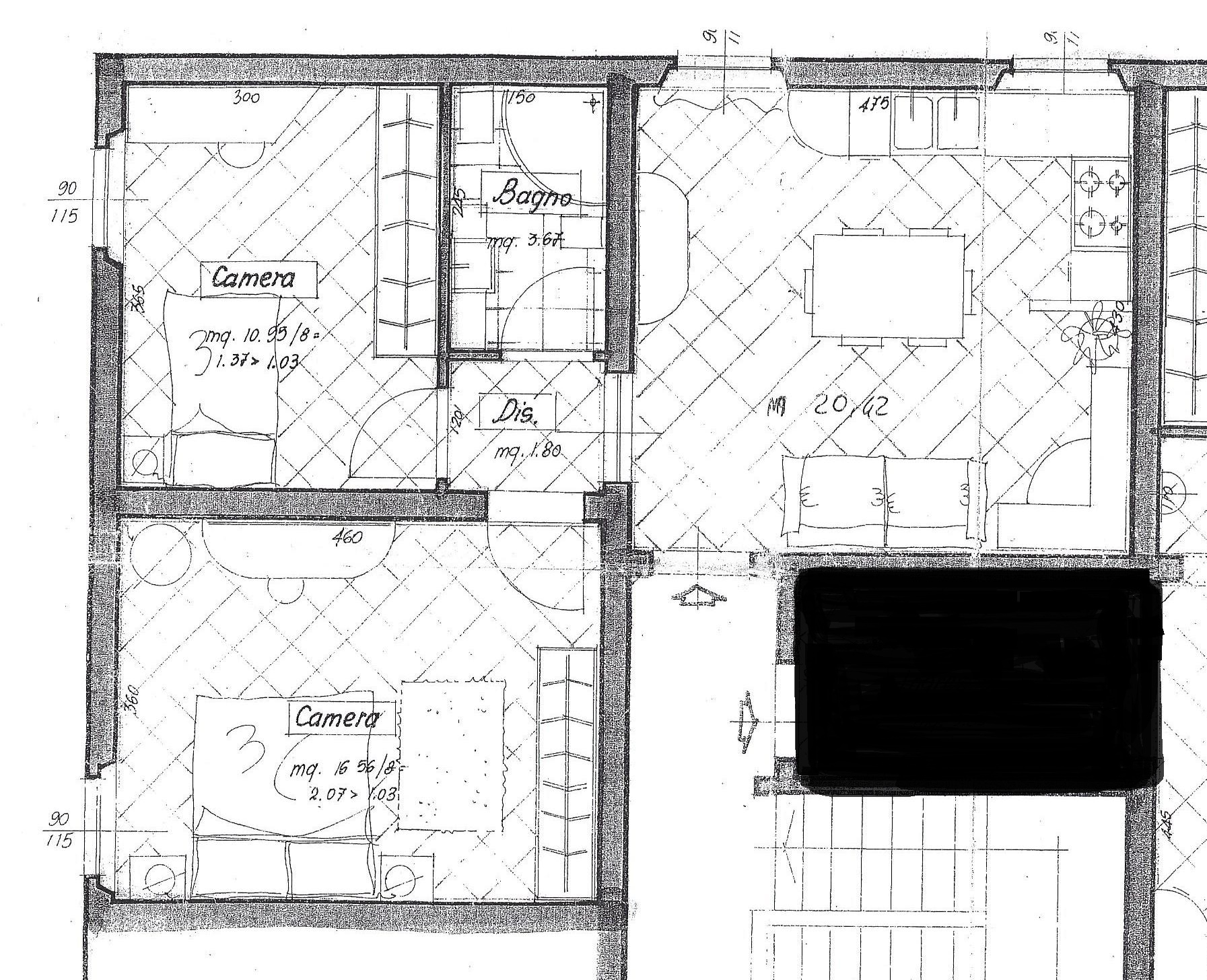 Planimetria 1/1 per rif. 1845