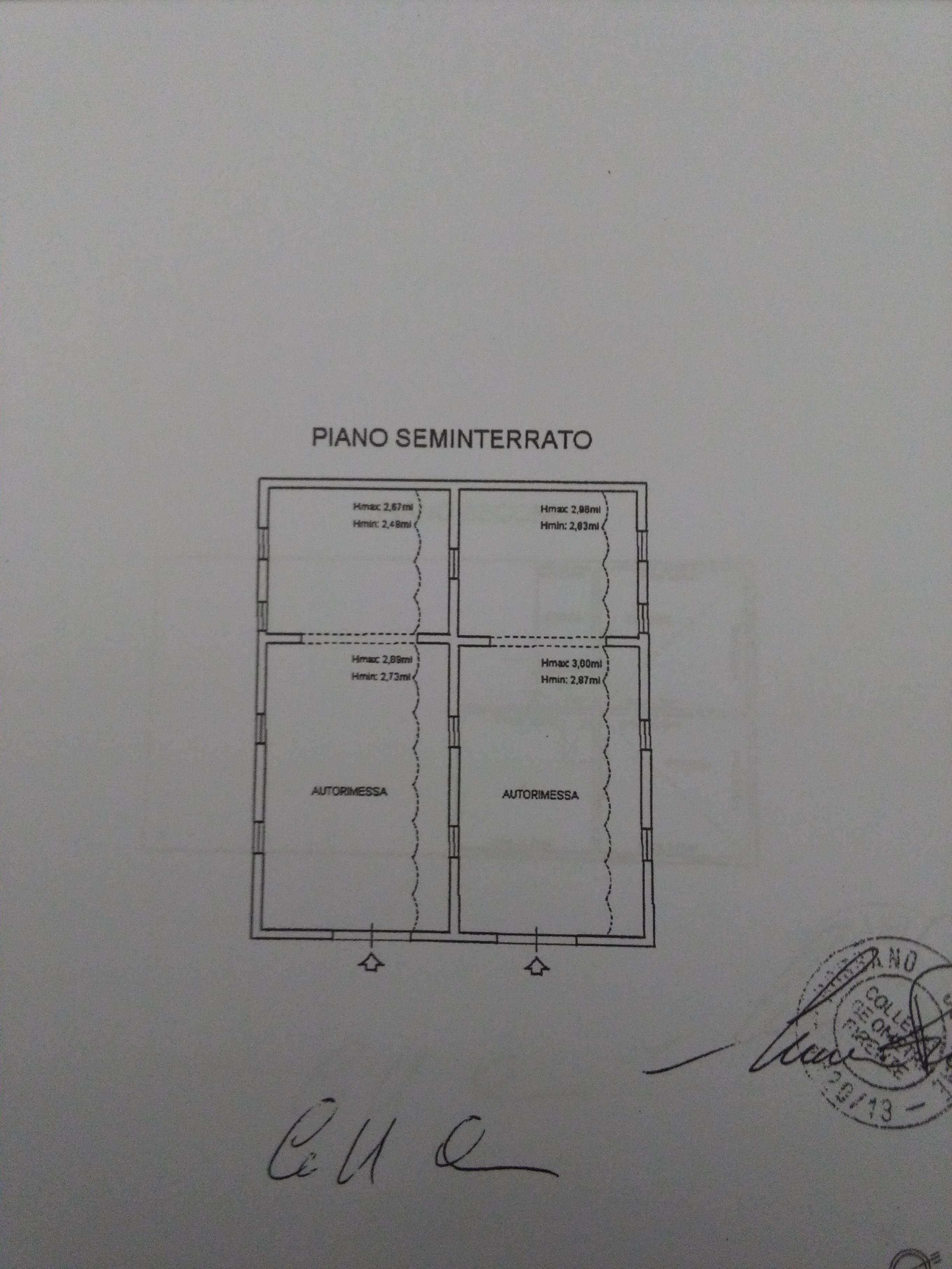Planimetria 1/4 per rif. 2039